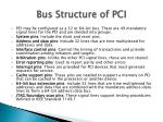 bus structure of pci