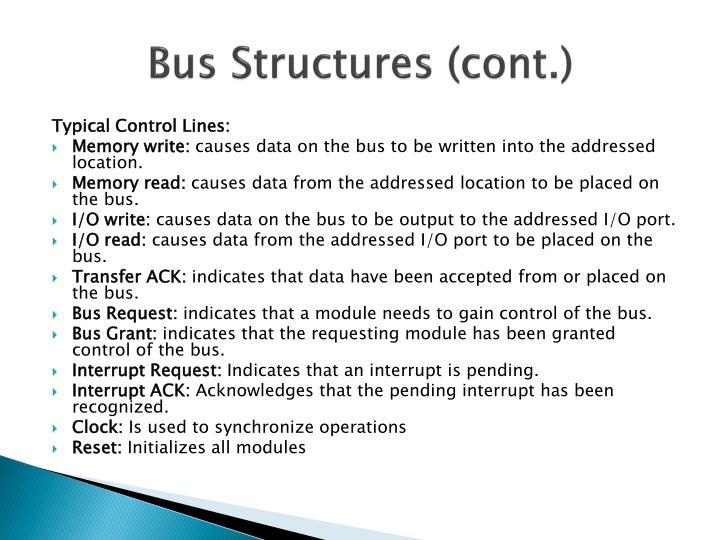 Bus Structures (cont.)