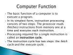 computer function