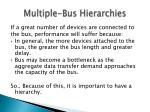 multiple bus hierarchies
