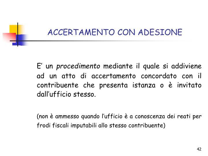 ACCERTAMENTO CON ADESIONE
