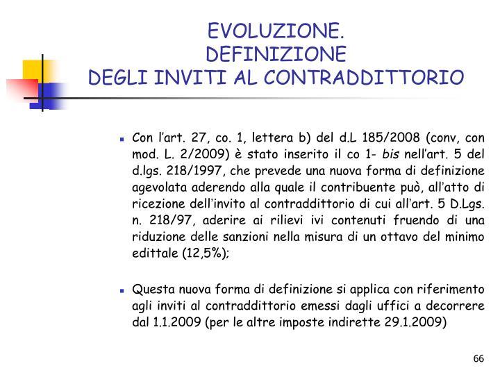 EVOLUZIONE.