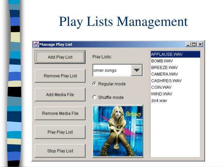 Play Lists Management