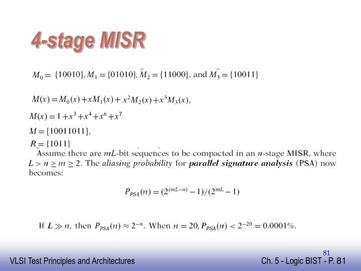 4-stage MISR