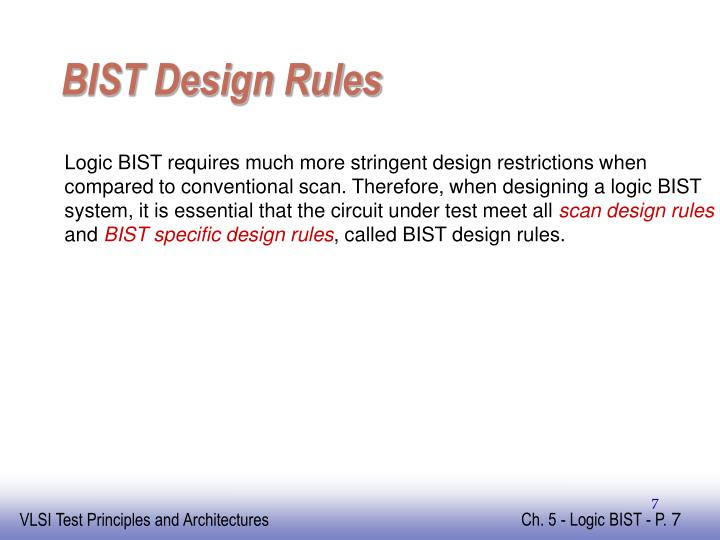 BIST Design Rules