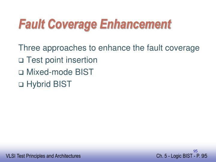 Fault Coverage Enhancement