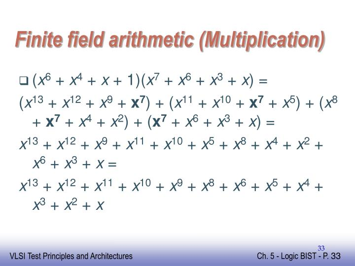 Finite field arithmetic (Multiplication)
