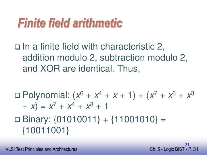 Finite field arithmetic