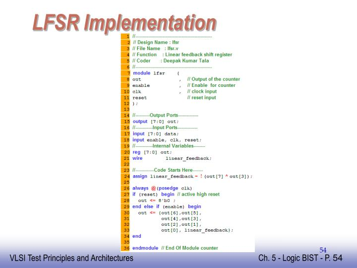 LFSR Implementation