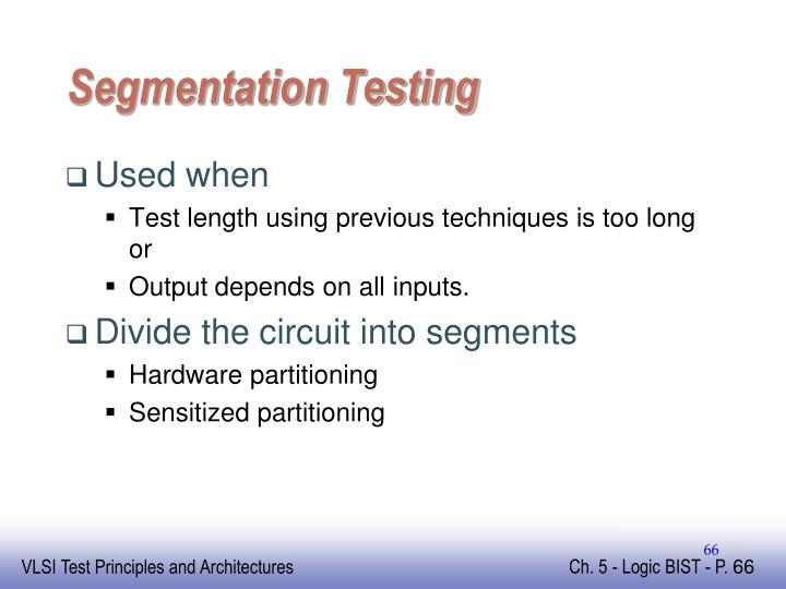 Segmentation Testing