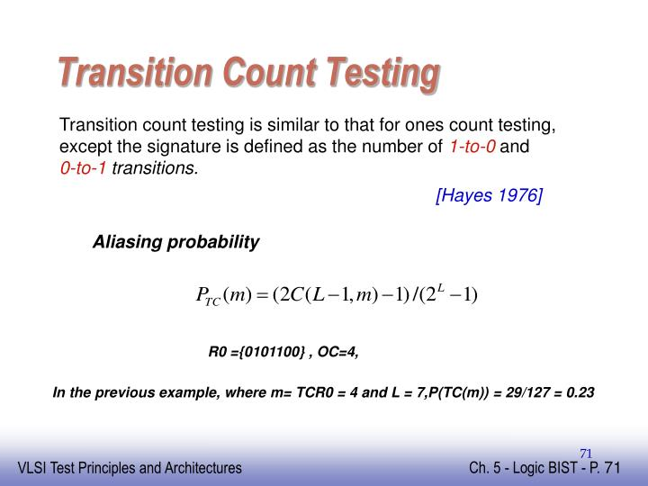Transition Count Testing