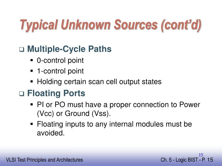 Typical Unknown Sources (cont'd)