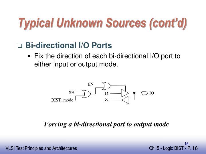 Typical Unknown Sources (cont'd)