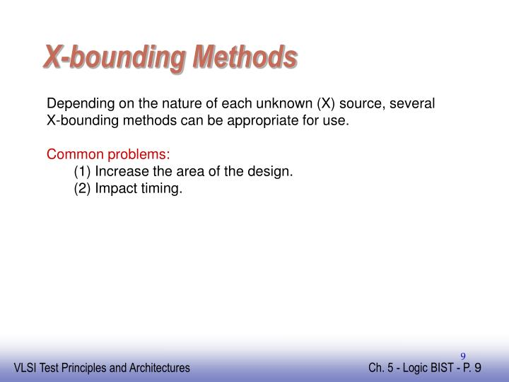 X-bounding Methods