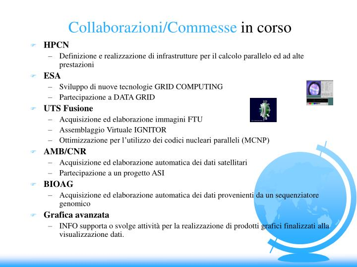 Collaborazioni/Commesse