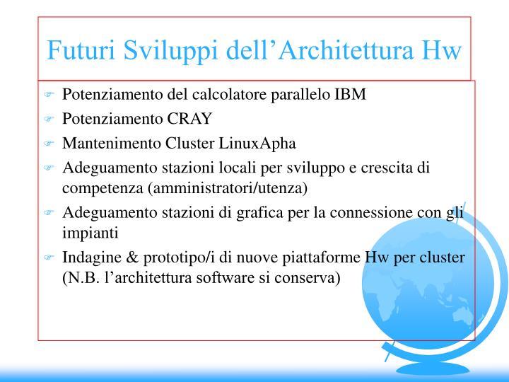 Futuri Sviluppi dell'Architettura Hw