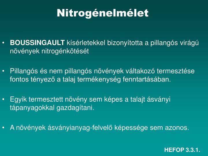Nitrogénelmélet