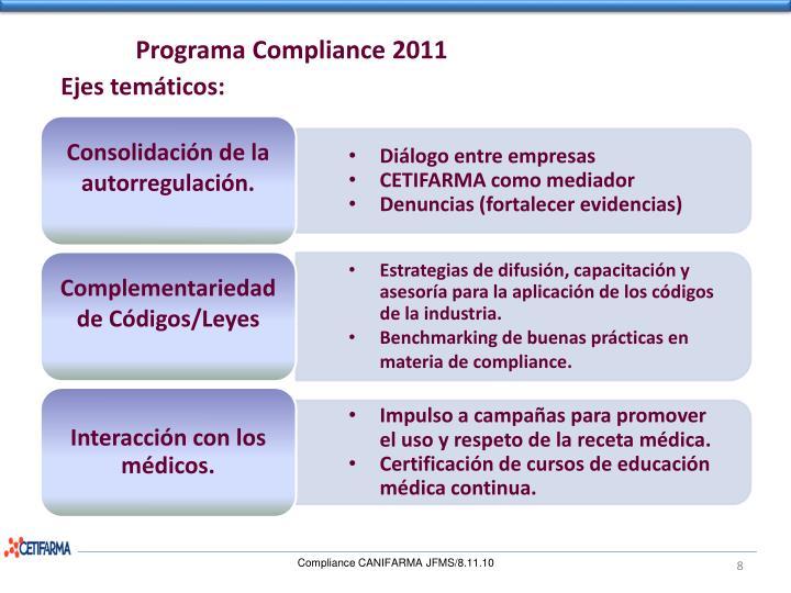 Programa Compliance 2011