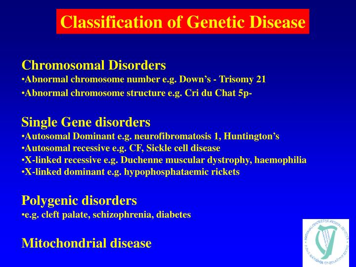 Classification of Genetic Disease