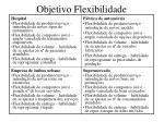 objetivo flexibilidade