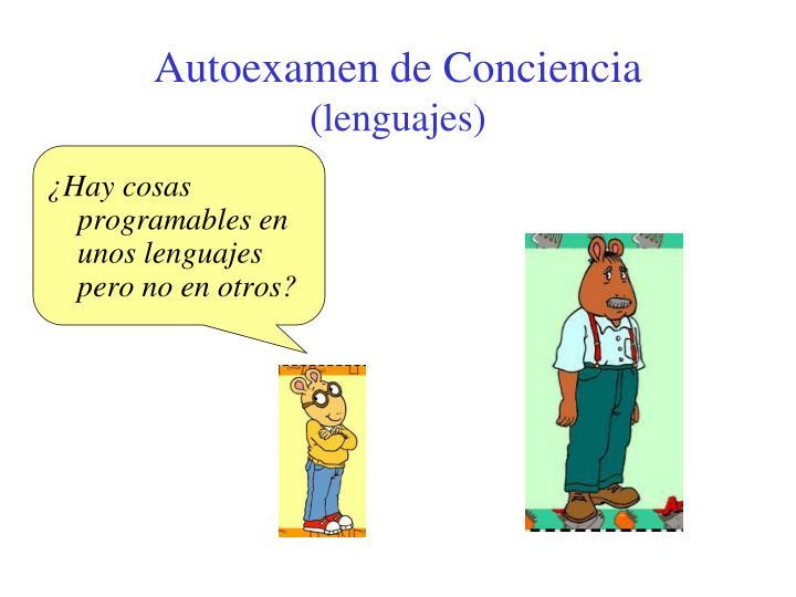 Autoexamen de Conciencia