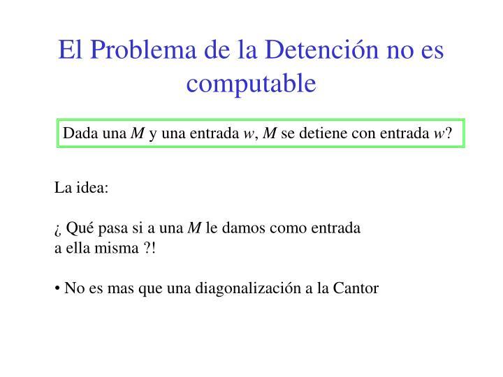 El Problema de la Detención no es computable