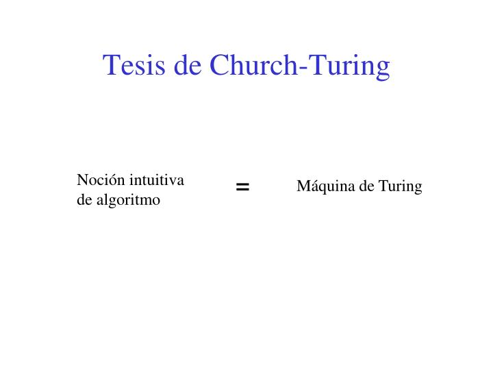 Tesis de Church-Turing