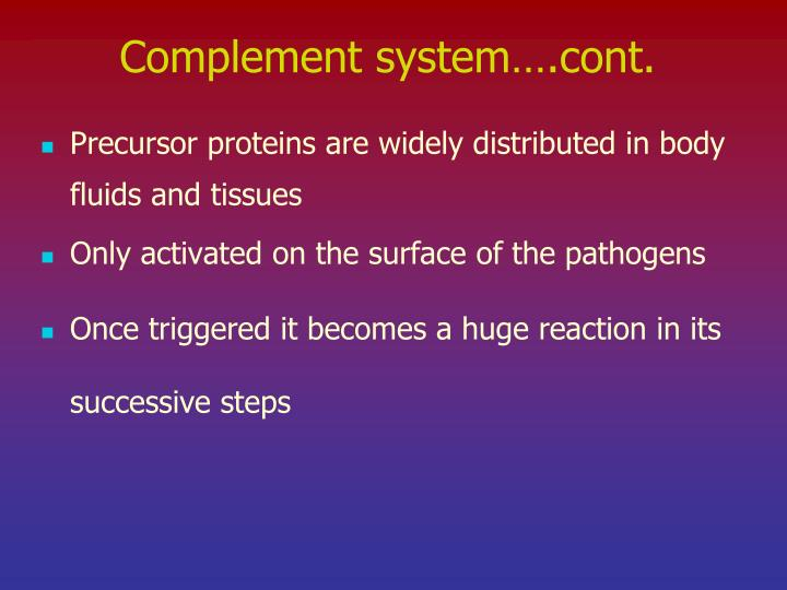 Complement system….cont.