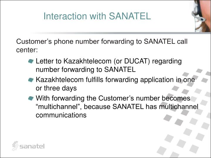 Interaction with SANATEL