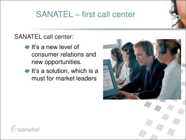 SANATEL – first call center
