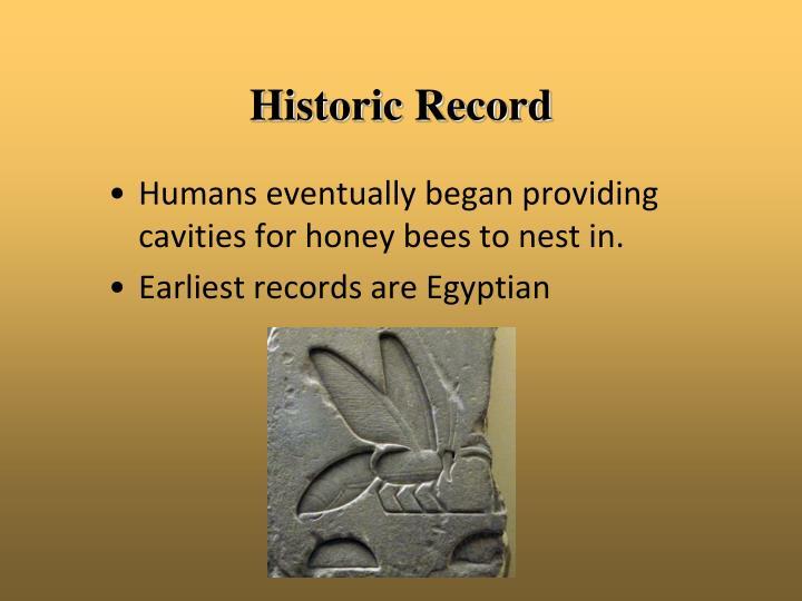 Historic Record