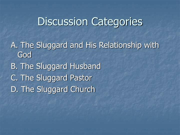 Discussion Categories