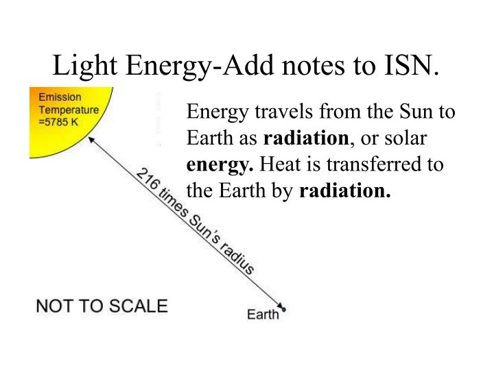 Light Energy-Add notes to ISN.