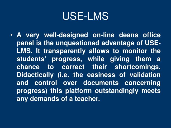 USE-LMS
