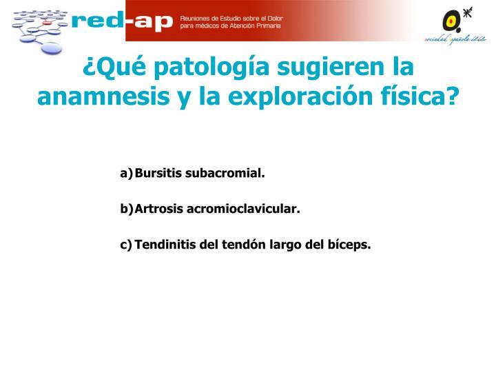 Bursitis subacromial.