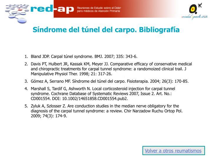 Síndrome del túnel del carpo. Bibliografía