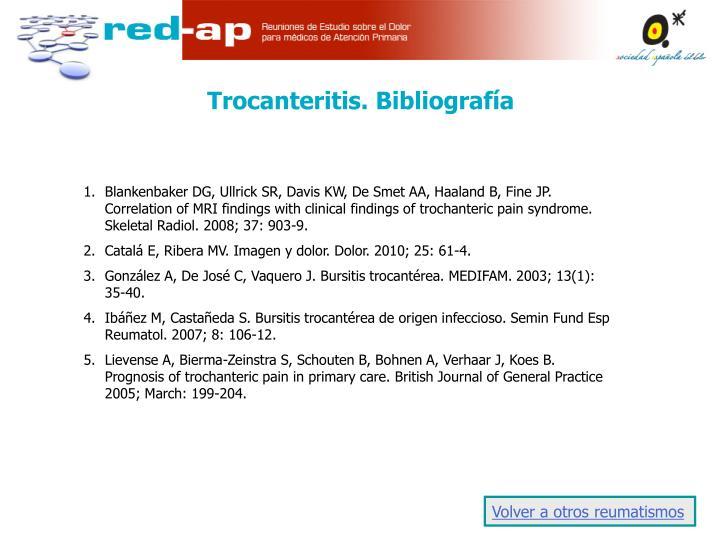 Trocanteritis. Bibliografía