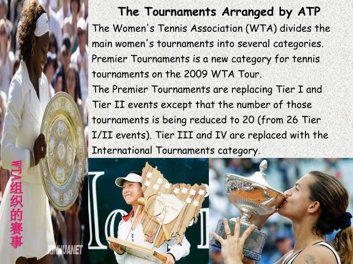 The Tournaments Arranged by ATP