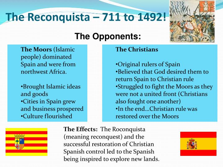 The Reconquista – 711 to 1492!