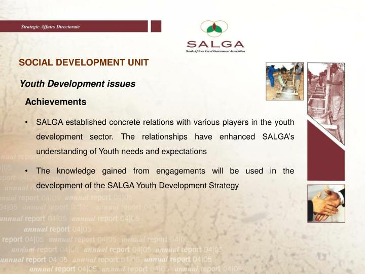 SOCIAL DEVELOPMENT UNIT