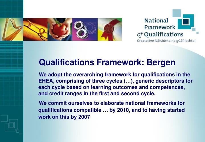 Qualifications Framework: Bergen