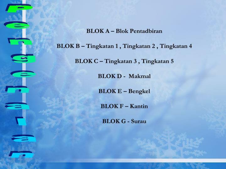 BLOK A – Blok Pentadbiran