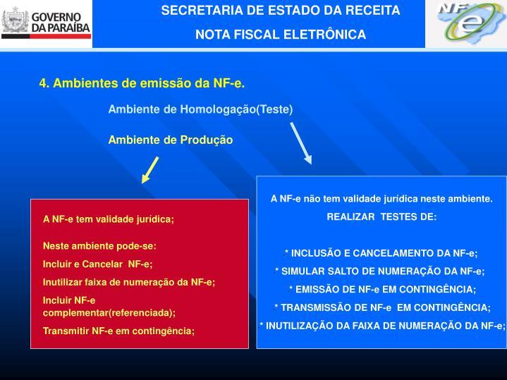 A NF-e tem validade jurídica;