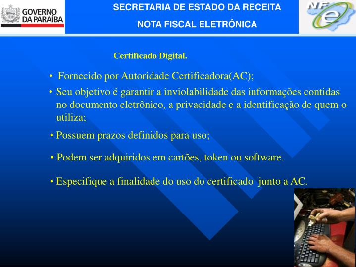 Certificado Digital.