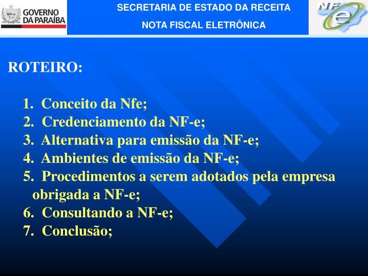ROTEIRO: