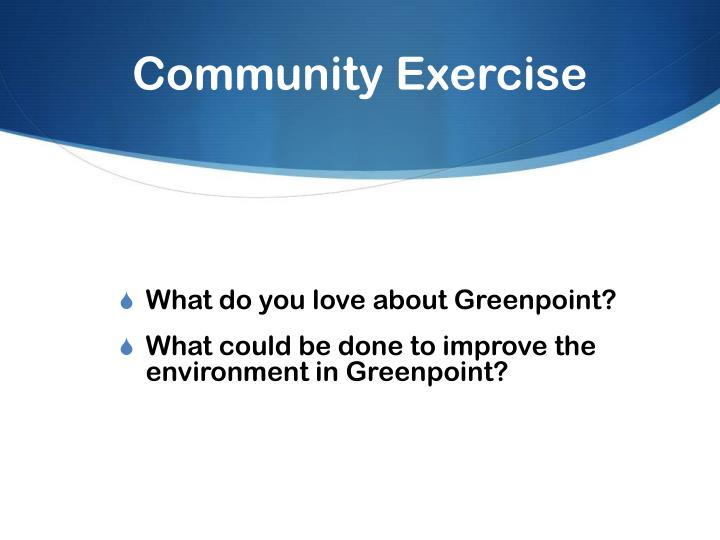 Community Exercise