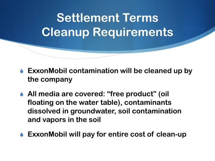 Settlement Terms