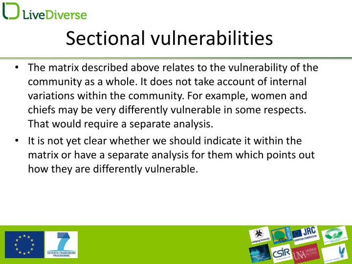 Sectional vulnerabilities