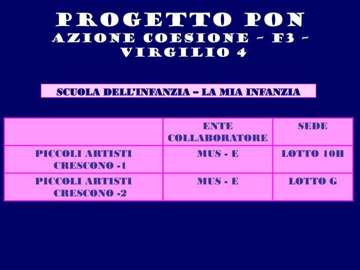 PROGETTO PON