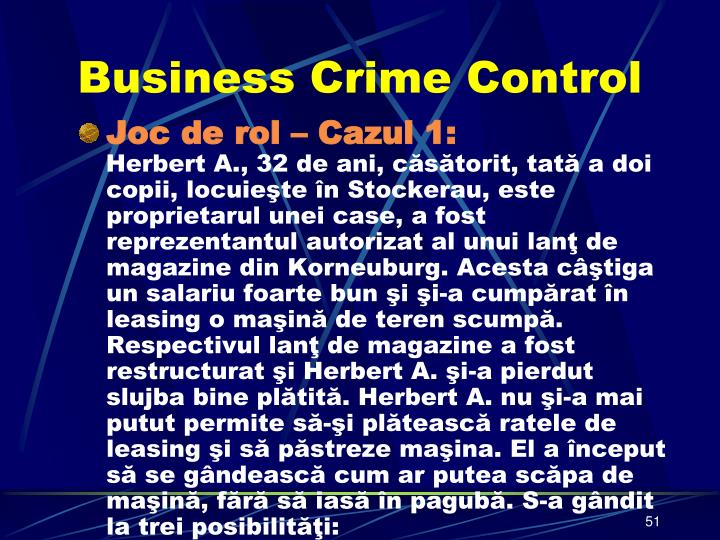 Business Crime Control